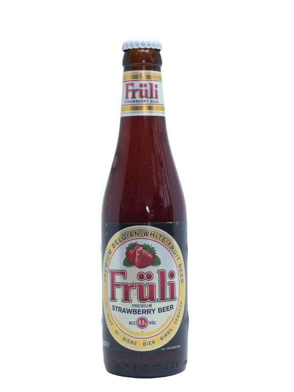 Belgisk frugtøl og jordbærøl Fruli